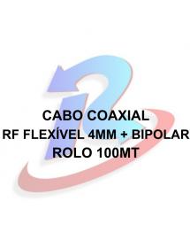 CABO PARA CAMERA ROLO 100M CFTV 0,4 - 2,5 + 2X26AWG MONO