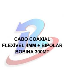 CABO TRANÇADO 4MM MASTER NU CFTV BC BOBINA 300M 2X26AWG