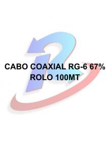 CABO COAXIAL RG-6 67% PARA KU MALHA 100 MT