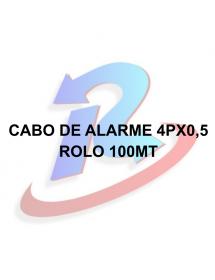 CABO DE ALARME ULTRA 4PARES 100M PRETO