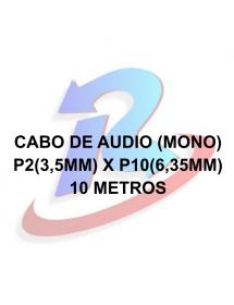 CABO DE AUDIO P2(3.5MM)M STEREO +P10(6.35MM)M X 2 MONO OD5.5 10M