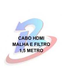 CABO HDMI 2.0 EXBOM CBX-H15DSM SUPORTA 3D/4K 19PIN 1.5M PRETO BLINDADO CONECTOR BANHO A OURO