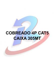 CABO SUMAY CFTV 4 PARES 8 FIOS PRETO  305 METROS