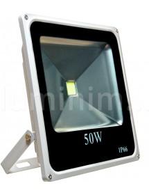 REFLETOR DE LED LCQ 50W LCQ-P50WBF IP 66 SLIM PRETO