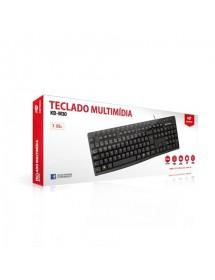 TECLADO C3TECH KB-M30BK USB MULTIMIDIA PRETO