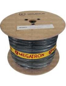CABO LAN MEGATRON 2 PARES 305M BOBINA PRETO 100% COBRE