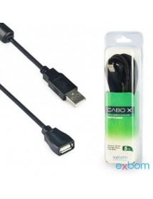 CABO EXTENSOR EXBOM USB 2.0 CBX-U2AMAF50 5 METROS