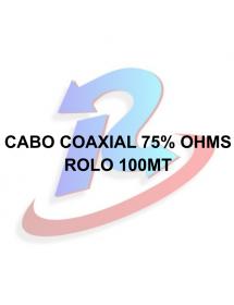 CABO COAXIAL MACRO ROLO 100M P/ ANTENA 59 75% OHMS BR