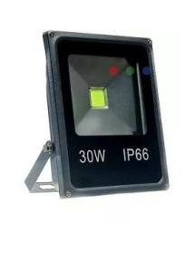 REFLETOR LED 30W DNI 6067  SLIM LED SND IP66 BIVOLT BRANCO FRIO
