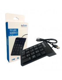 TECLADO NUMERICO USB EXBOM BK-N30 18 TECLAS