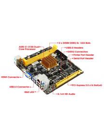 CPU TURBO - AMD DUAL CORE E1-2100 16GB / 500HD - COMPUTADOR
