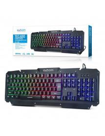 TECLADO GAMER EXBOM BK-G200 DE METAL COM ILUMINACAO DE LED