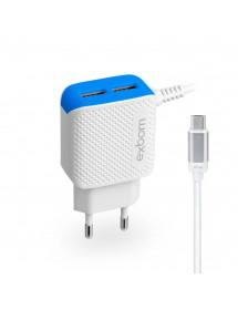 CARREGADOR EXBOM CA2U-C20V8B MICRO USB/V8 E DUPLO USB 2.1A