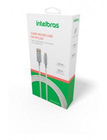 CABO CEL. V8 X USB / INTELBRAS / 4830066 EUAB15NB – 1,5M