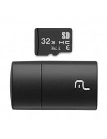 PEN DRIVE 2 EM 1 32GB  MULT.MC163 LEITOR USB + CARTAO DE MEMORIA CLASSE 10