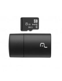 PEN DRIVE 2 EM 1 8GB  MULT.MC161 LEITOR USB + CARTAO DE MEMORIA