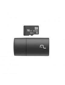 PEN DRIVE 2 EM 1 16GB MULT. MC162 LEITOR USB + CARTAO DE MEMORIA