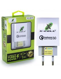 CARREGADOR PARA CELULAR UNIVERSAL USB 3.0 X-CELL - XC-UR-9 - 4,2A
