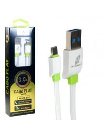 CABO PARA CELULAR USB X TIPO C X-CELL XC-CD-60 3,0A 1M