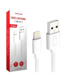 CABO PARA IPHONE USB X LIGHTNING C3TECH CB-L10WH C3PLUS 2 A 1M