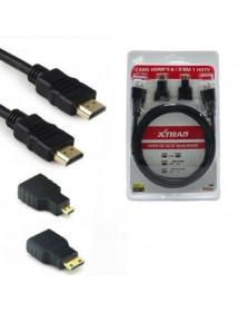 CABO HDMI 1.4 XTRAD XT2063 3 EM 1 HDTV