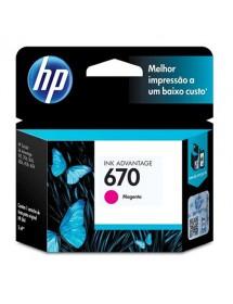 CARTUCHO HP ORIGINAL  670 CZ115AB MAGENTA