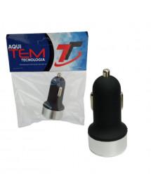 ADAPTADOR AUTO USB  C VAR. CAR 12-24V 2.1A TEM 5018