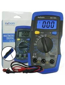 MULTIMETRO DIGITAL EXBOM MD-180L PORTATIL LCD DE 3 DIGITOS