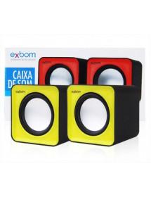 CAIXA DE SOM EXBOM CS-32 2.0 5W PARA COMPUTADOR E SMARTPHONE