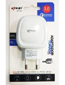 CARREGADOR USB KNUP KP-570 RAPIDA RECARGA