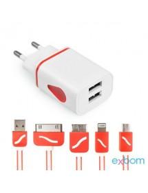CARREGADOR UNIVERSAL EXBOM CUS-C5E1C 5 EM 1 USB