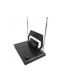 ANTENA INTERNA SG-261 COM HASTES E SELETOR VHF UHF FM HDTV SINAL DIGITAL 4 EM 1