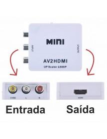 ADAPTADOR AV2 PARA HDMI 1080P HD VIDEO CONVERTER