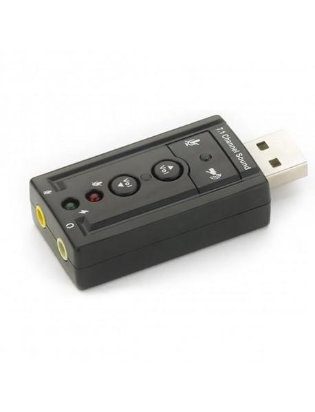 ADAPTADOR DE SOM USB 2.0 EXBOM USOM-10 EXTERNO 7.1-CANAIS