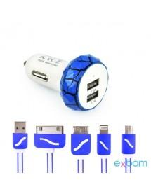 CARREGADOR 5EM1 EXBOM CUS-A5E1A-77 VEICULAR COM DOIS PORTAS DE USB