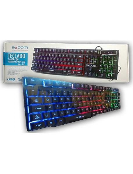 TECLADO EXBOM BK-152C USB COM ILUMINADO RGB
