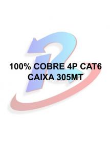 CABO LAN CAT6 PRYSMIAN 4 PARES 305 METROS DRAKA PRETO DRAKA