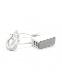 CARREGADOR EXBOM CA-S20 MICRO USB/V8 E DUPLO USB 12W