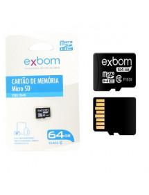 CARTÃO DE MEMORIA 64GB EXBOM STGD-TF64G