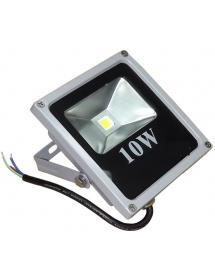 REFLETOR LED 10W  EXBOM RL-C5B10W BRANCO FRIO 6500K PRATA SLIM IP65