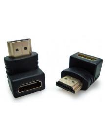 ADAPTADOR HDMI MACHO X HDMI FEMEA (L) - 1232