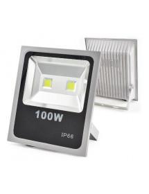 REFLETOR DE LED EXBOM RL-C5B100W  100W BRANCO FRIO 6500K PRATA SLIM